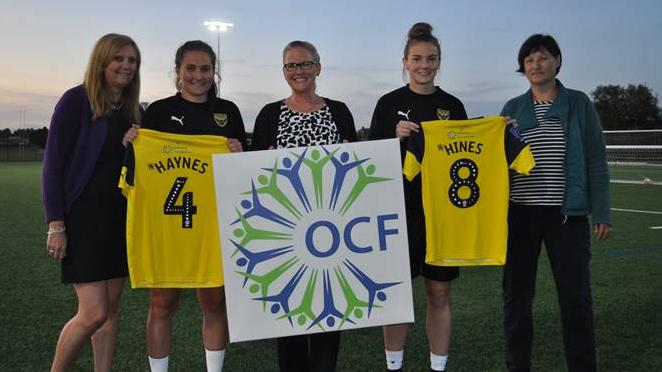 Oxfordshire Community Foundation Become Women's Back Shirt Sponsor